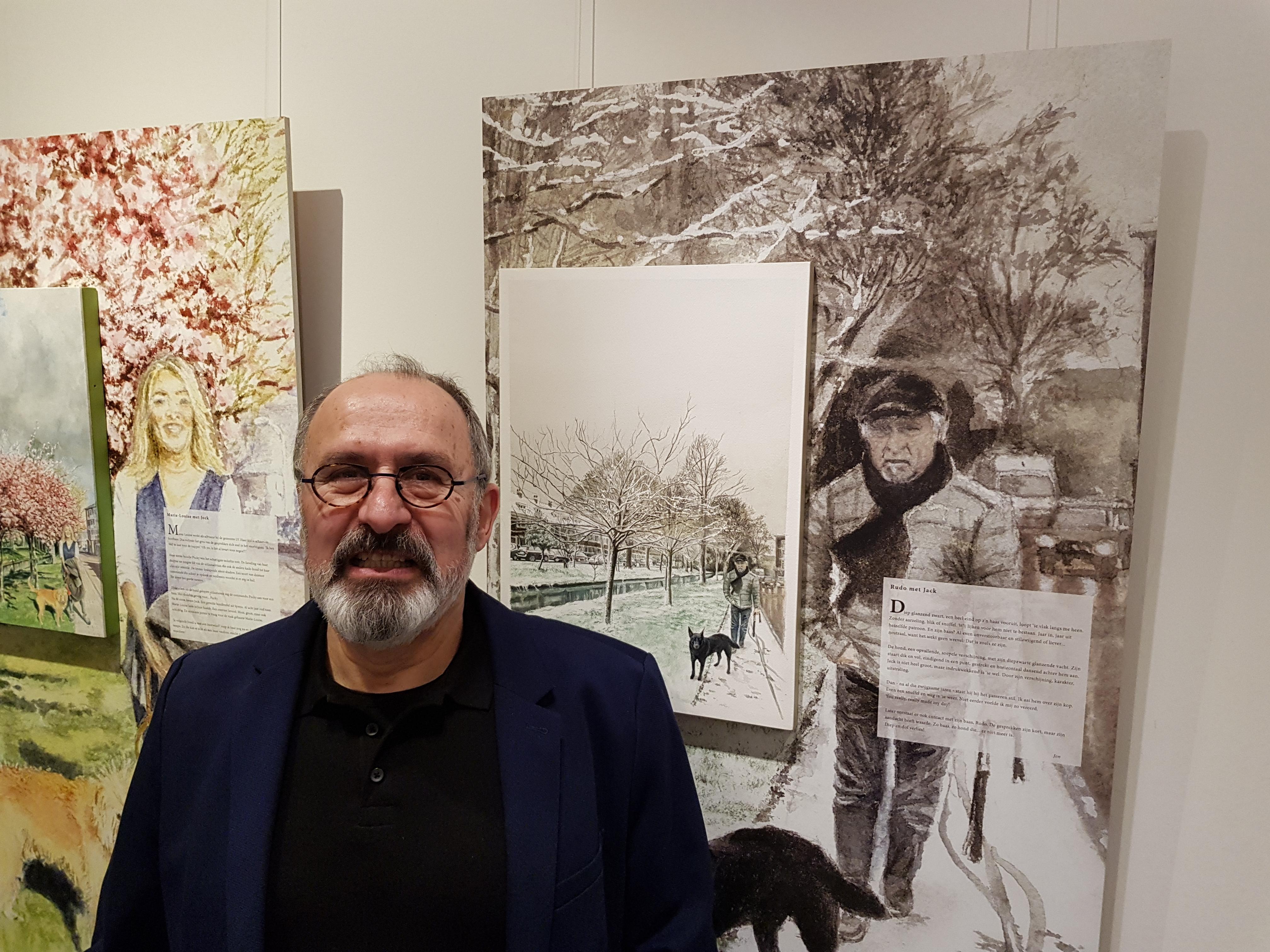 Jon Meibergen voor zijn kunstwerken