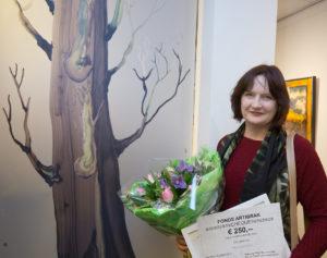 Louise Harley bij winnend werk