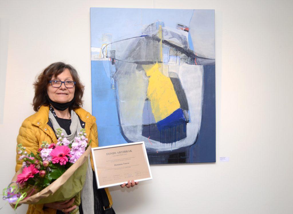 Rumiana Yotova bij winnend werk